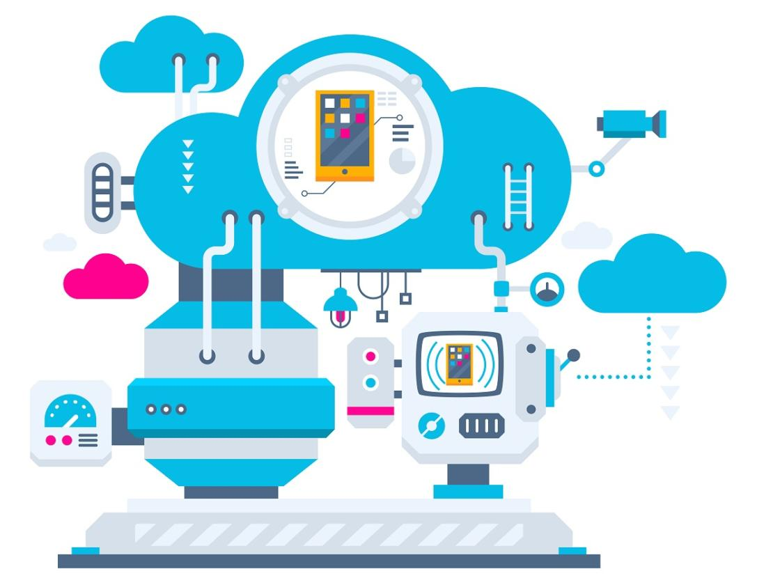 Illustration of the cloud technology