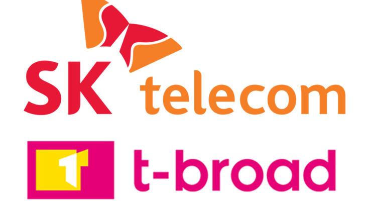 SK Telecom logo; t-broad logo