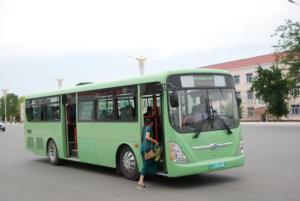 Hyundai Motor's previous Aero City bus model.