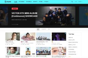 V Live webpage