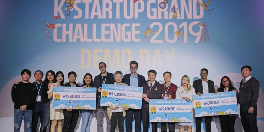 K-Startup Grand Challenge 2019 winning teams. / KSGC