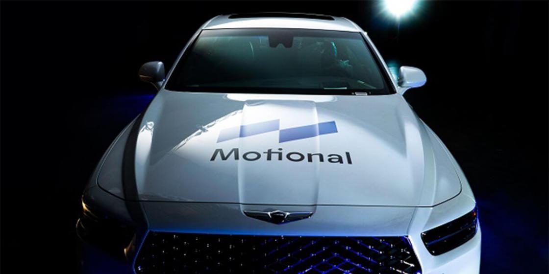 Hyundai's Genesis 90 with the Motional brand logo. (Hyundai Motor Group)