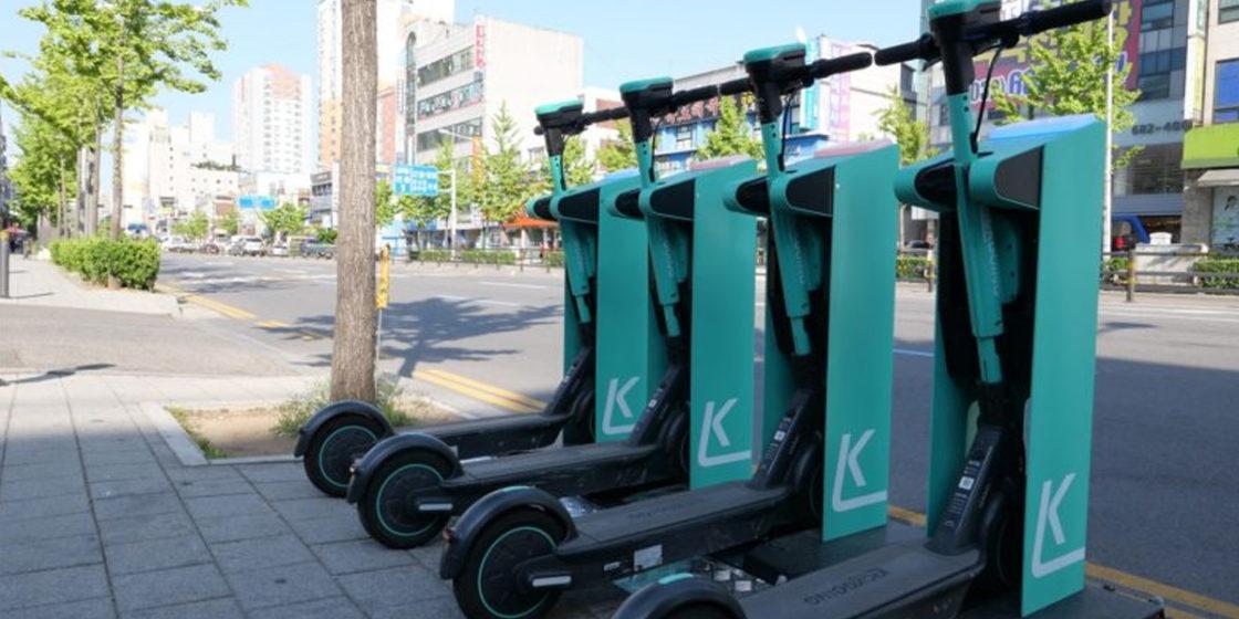 Kickgoing's electric kickboard wireless charging platofrm Kickspot (Kickgoing)